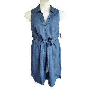Old Navy Chambray Sleeveless Shirt Dress NWT